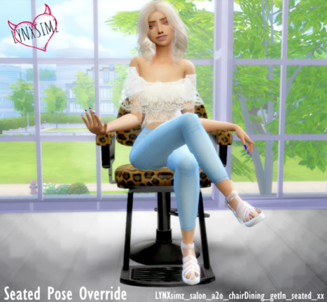 Seated Pose Override 1 by Lynx Simz