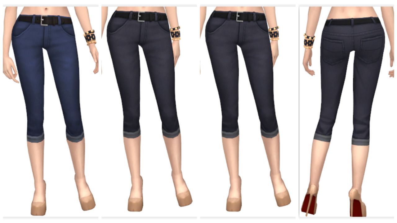 Skinny Cropped Jeans in 10 Colors for Females by Annabellee25