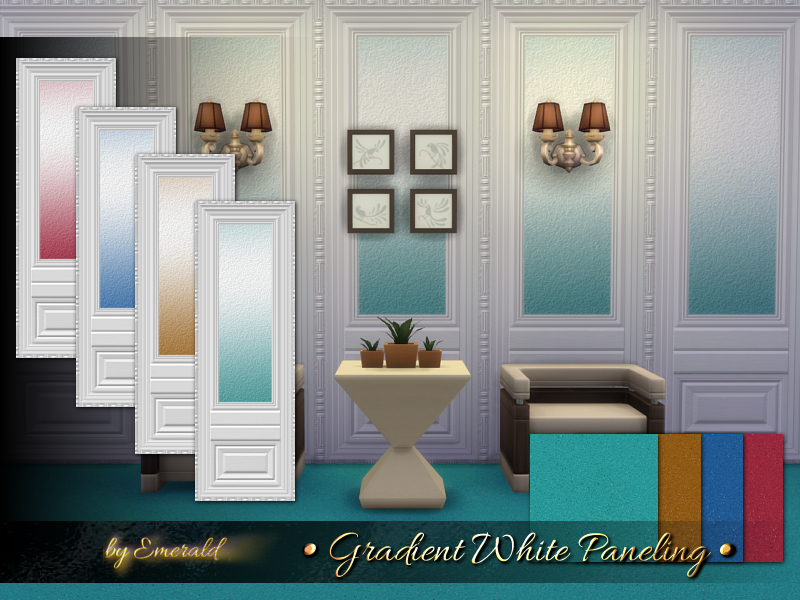 Gradient White Paneling  BY emerald