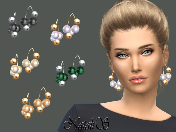 NataliS_Giant pearls and beads earrings