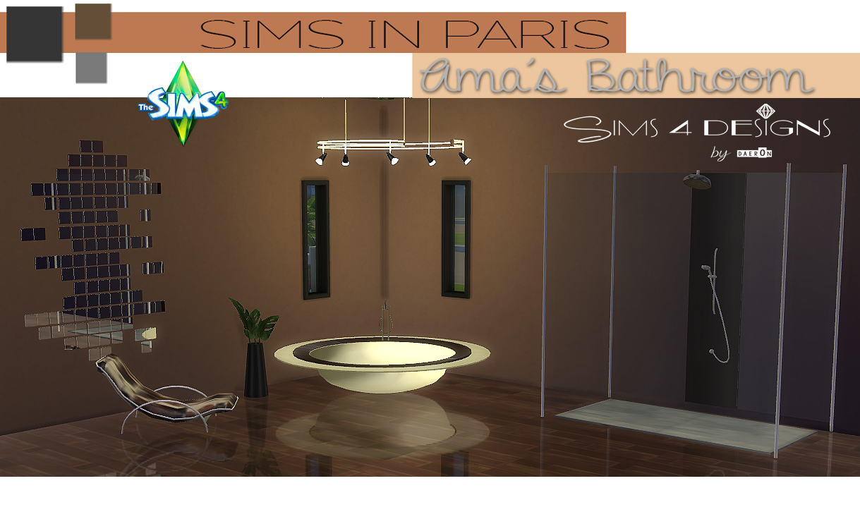 TS2 Sims In Paris Ama's Bathroom Conversion by Daer0n