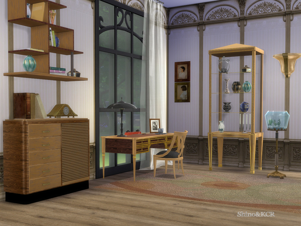Art Deco Home Office by ShinoKCR