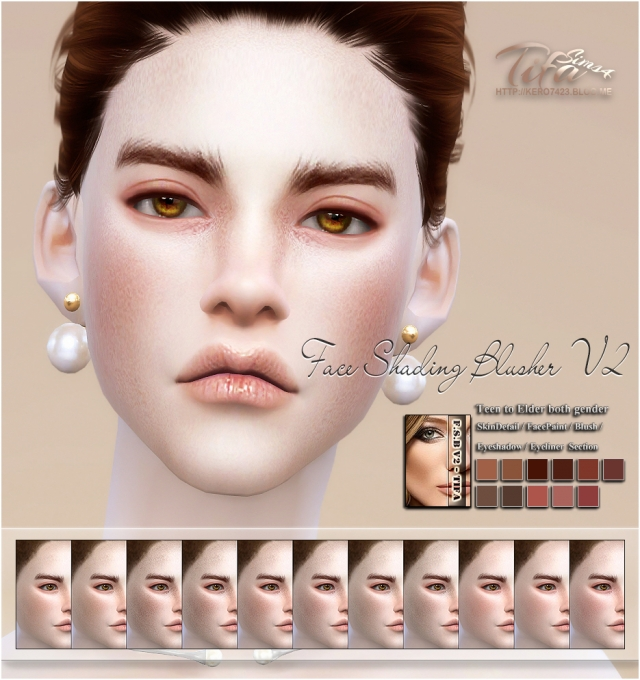 Face Shading Blusher V2 Male & Female by Tifa