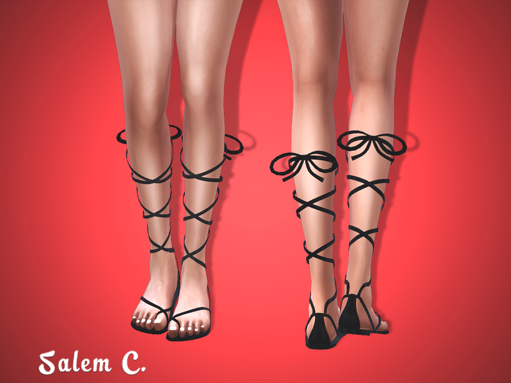 Tie Leg Sandals by salem2342