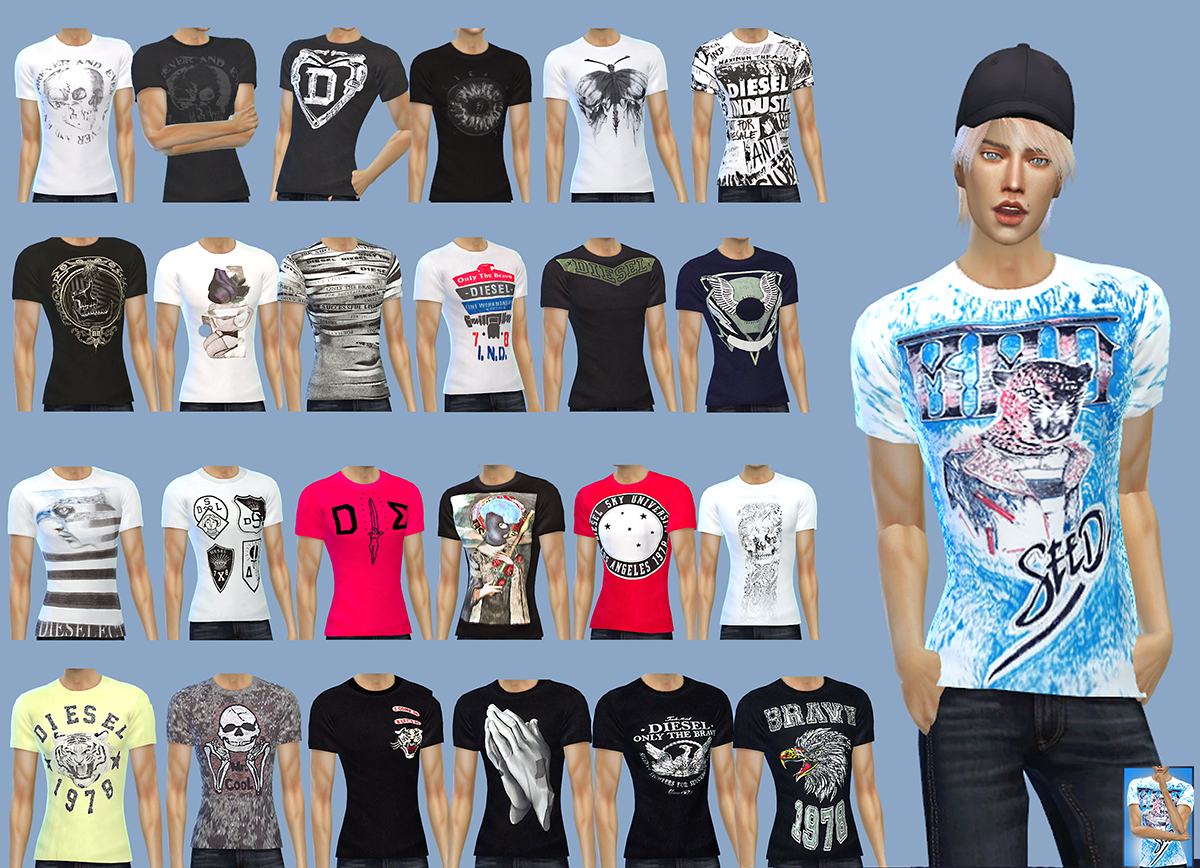 Gisheld male t-shirts,симс 4,The Sims 4