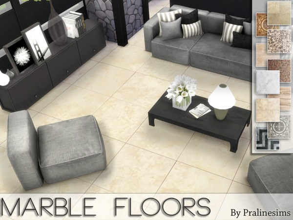 Marble Floors by Pralinesims