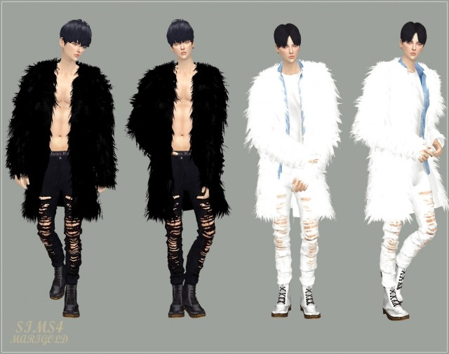 male ACC long fur jacket by Marigold