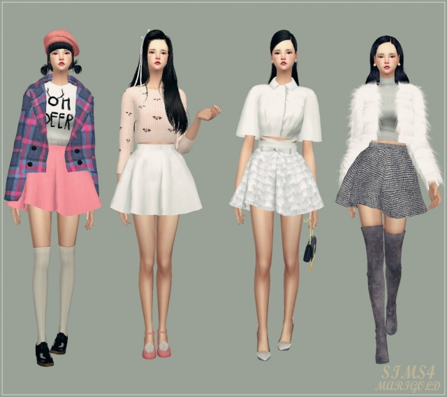 flare skirt V1 Single color by Marigold