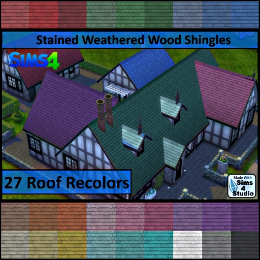 Stained Weathered Wood Shingles by Dalax
