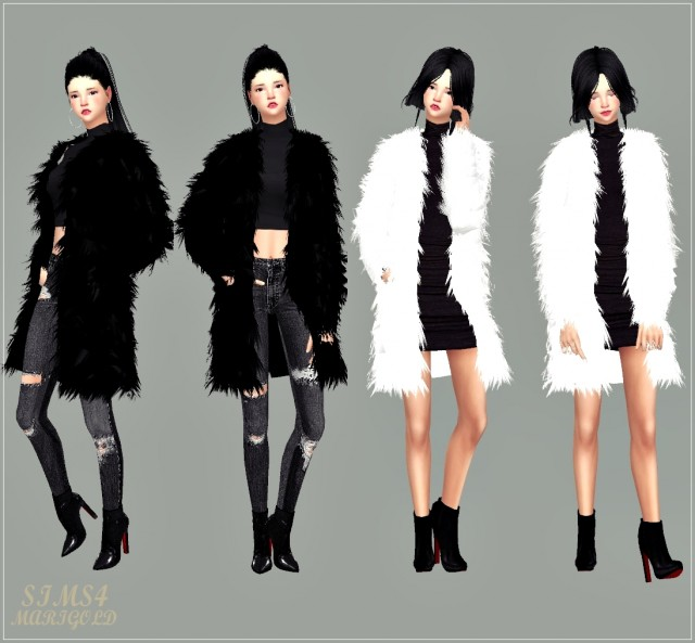 ACC long fur jacket by Marigold
