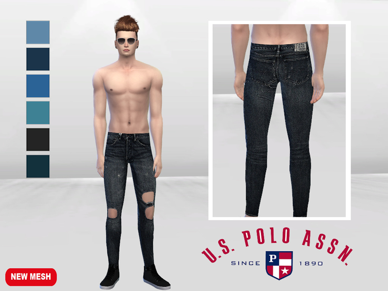 Apex Holed Denim Jeans  BY McLayneSims