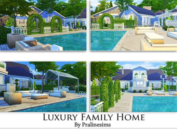 Luxury Family Home by Pralinesims