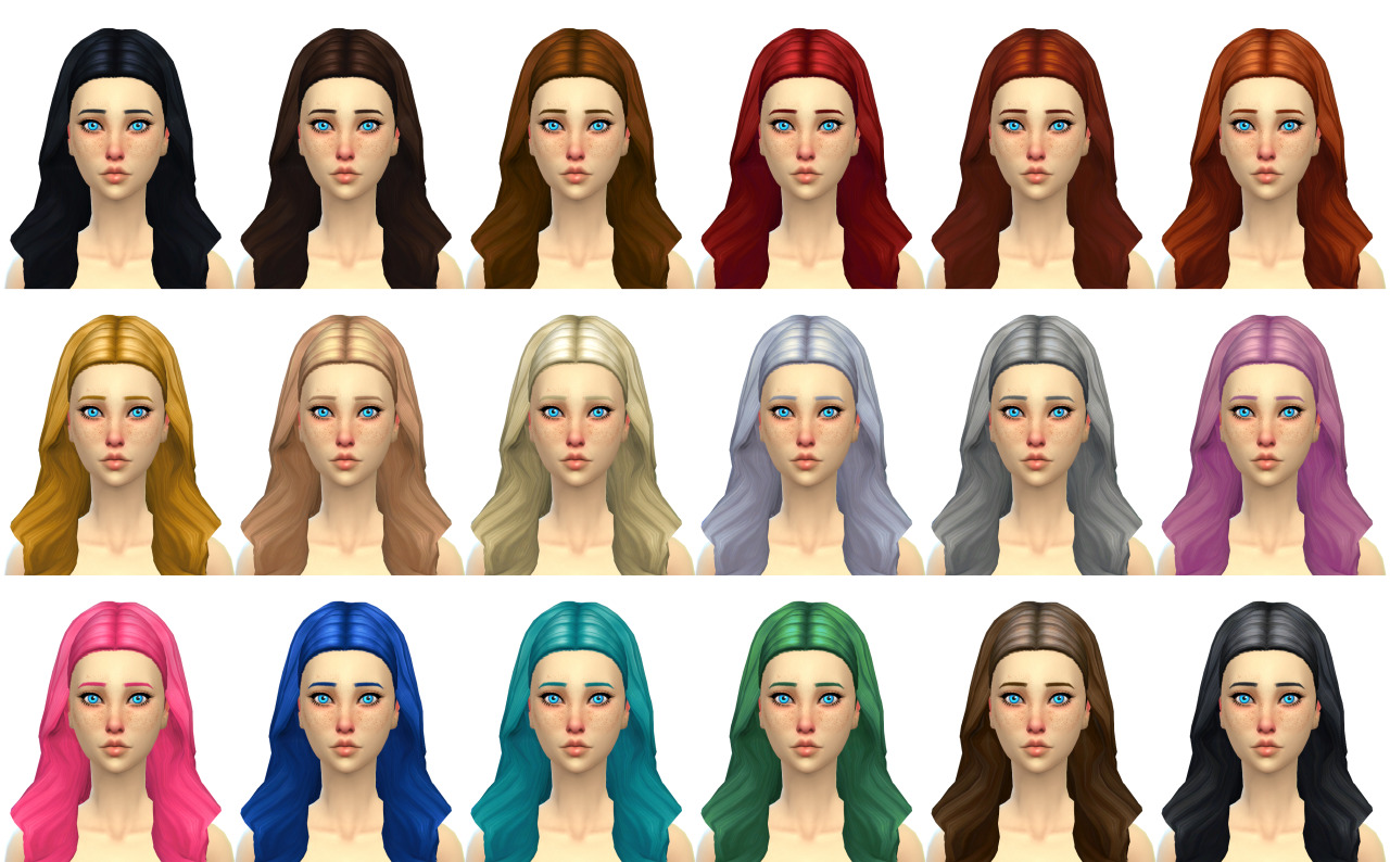 Gem Hair for Females by Simduction