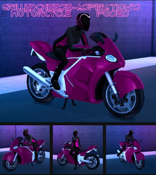 Motorcycle Poses by GrilledCheeseAspiration