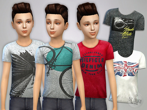 T- Shirt Collection for Boys P07 by lillka