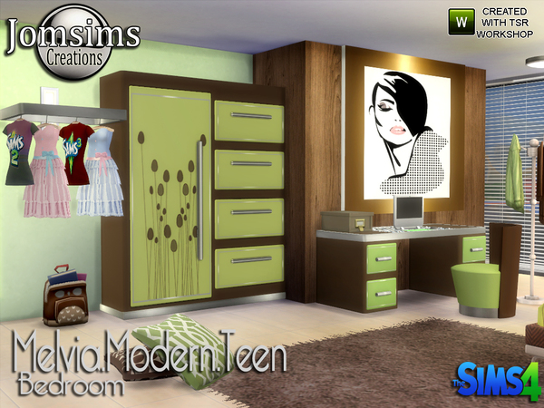Melvia modern teen bedroom by jomsims