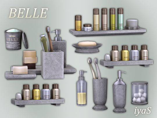 Belle Bathroom Clutter by Soloriya