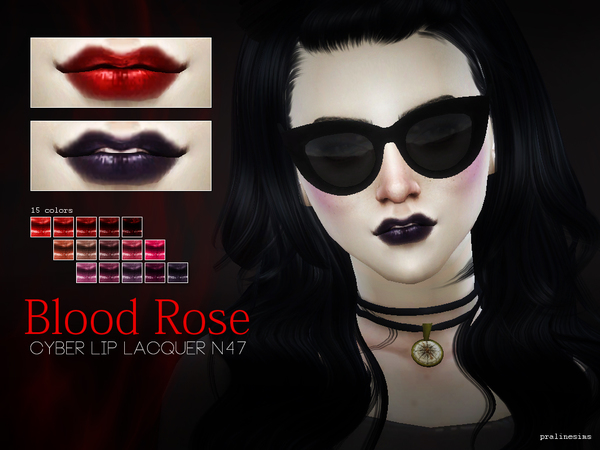 Blood Rose ~ Cyber Lip Lacquer  N47 by Pralinesims