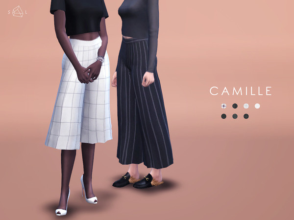 Wide leg pants - CAMILLE by starlord