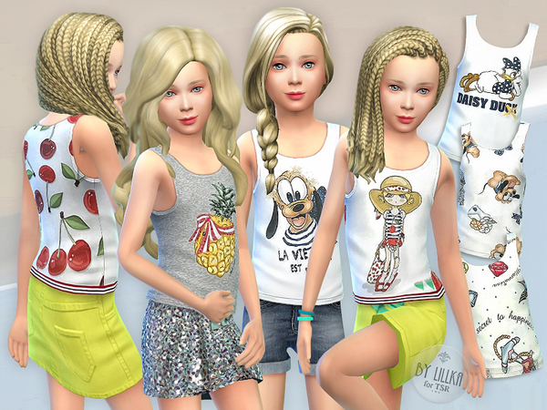 Tank Top Collection for Girls P02 by lillka