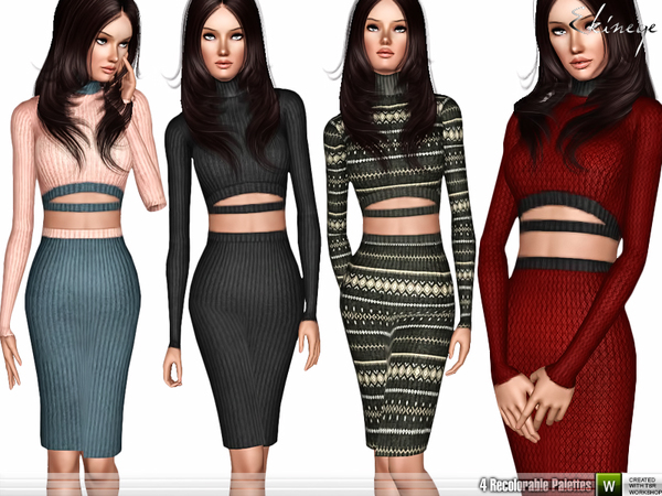 Two Piece Knit Dress by ekinege