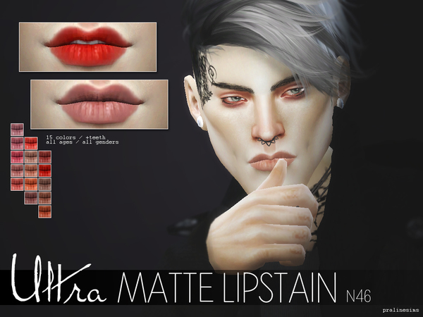 Ultra Matte Lipstain  N46 by Pralinesims