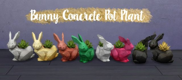 Concrete Planter Set - BUNNY by Dean