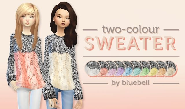 Two-colour Sweater by Bluebell