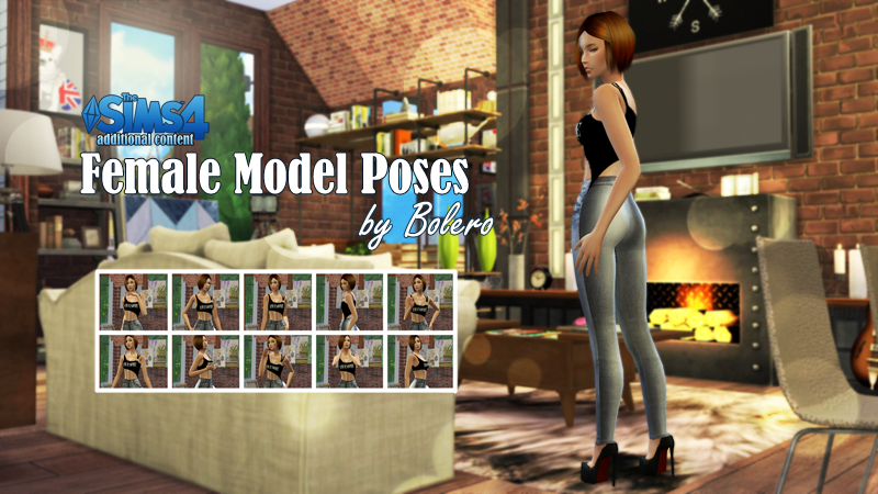 Female Model Pose set by Bolero