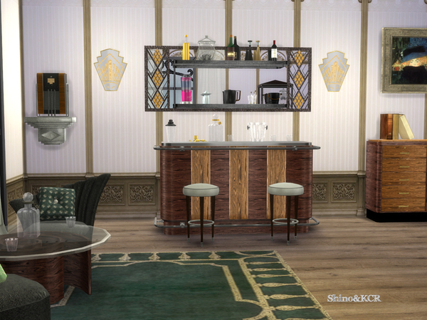 Art Deco Home Bar by ShinoKCR
