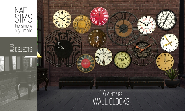 """Vintage Wall Clock"" by NafSims"