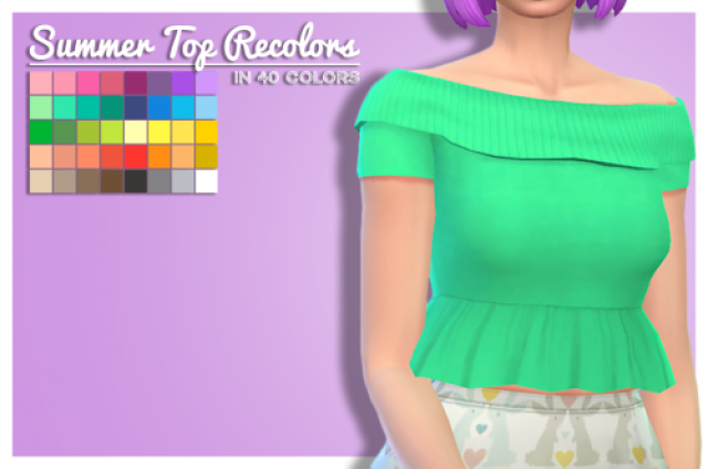 summer top by LADY SYREN SIMS