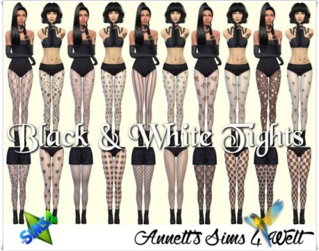 Black & White Tights by annett85