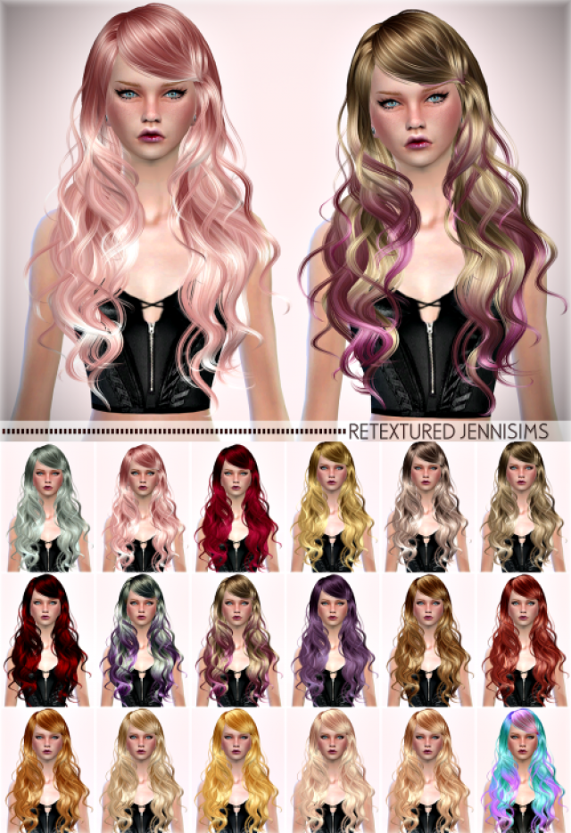 Newsea Sparklers Hair retexture by JenniSims