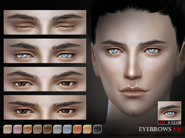 S-Club WM thesims4 Eyebrows31 M