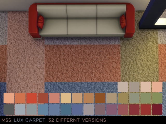 Lux Carpet V2 32 recolours by midnightskysims