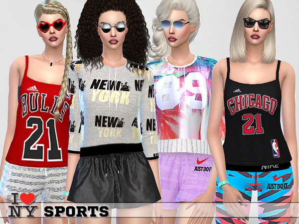 I love New York Sport Set by Pinkzombiecupcakes