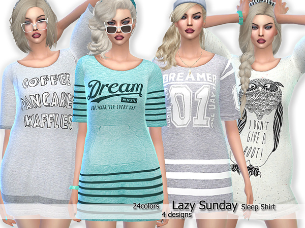 Lazy Sunday Sleep Shirts by Pinkzombiecupcakes
