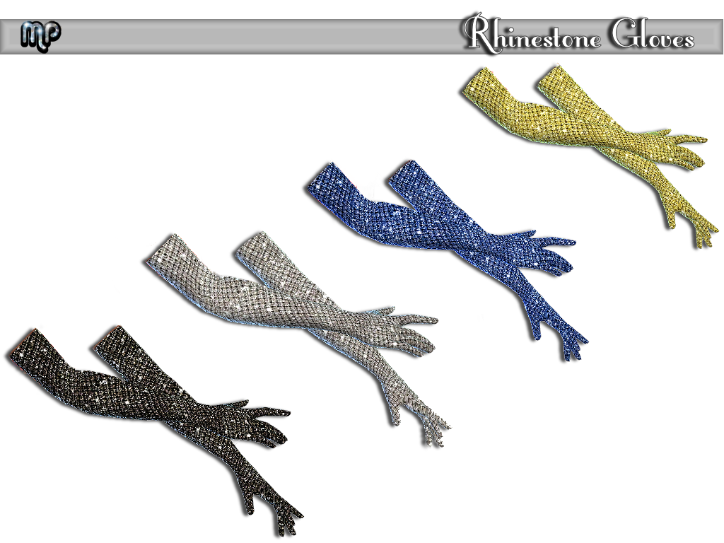 MP Rhinestone Gloves and Bodysuit