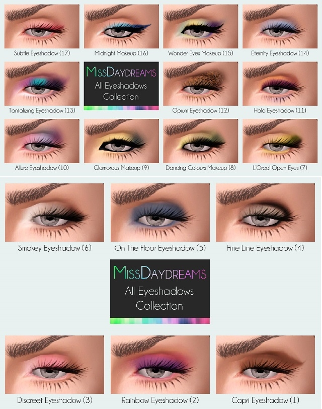 All Eyeshadows Collection by MissDaydreams