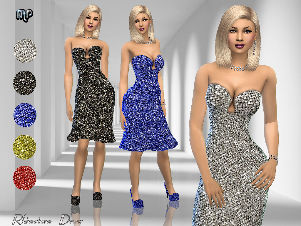 MP Rhinestone Dress by MartyP
