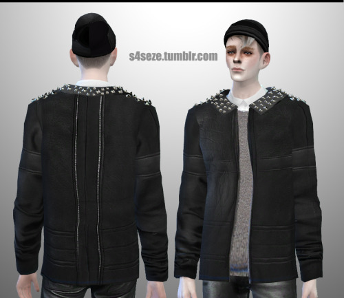 Studded Jacket for Males by S4Seze