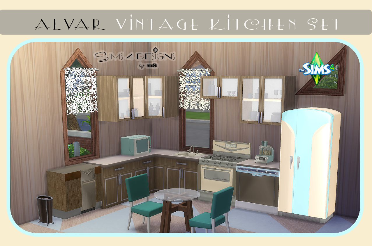 TS3 Alvar Vintage Kitchen Set by Daer0n