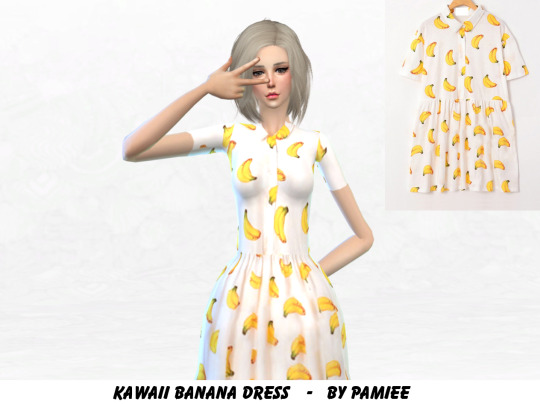Kawaii Banana Dress by pamieelady