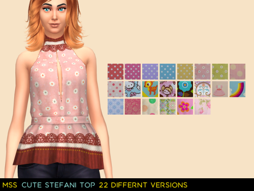 Cute Stefani Top for Females by MidnightSkySims