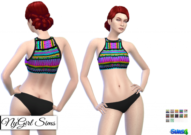 Two Piece Tribal Swimsuit by NyGirl