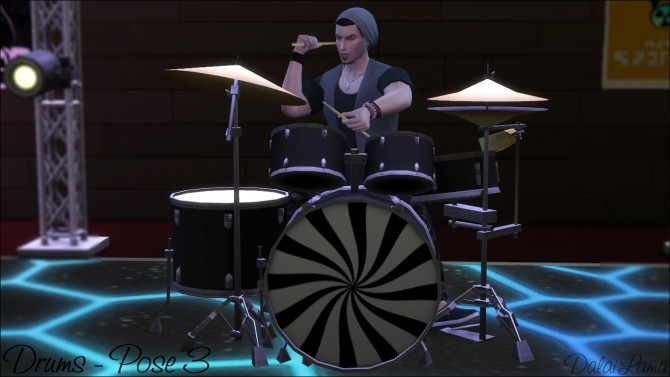 DRUMS POSES BY DALAILAMA AT THE SIMS LOVER