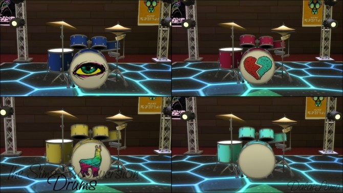 TS3 DRUMS CONVERSION BY DALAILAMA AT THE SIMS LOVER