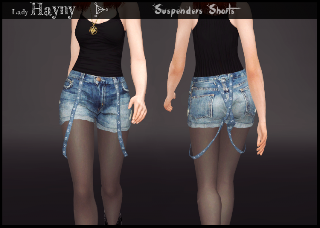 Suspenders Shorts by LadyHayny