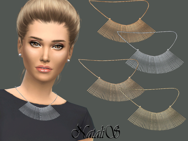 NataliS_Chain Fringe Necklace
